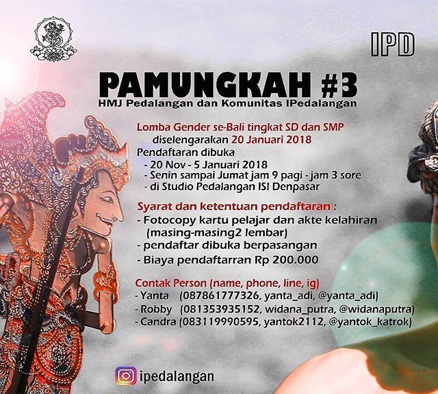 Lomba Gender Wayang Untuk SD & SMP Se-Provinsi Bali