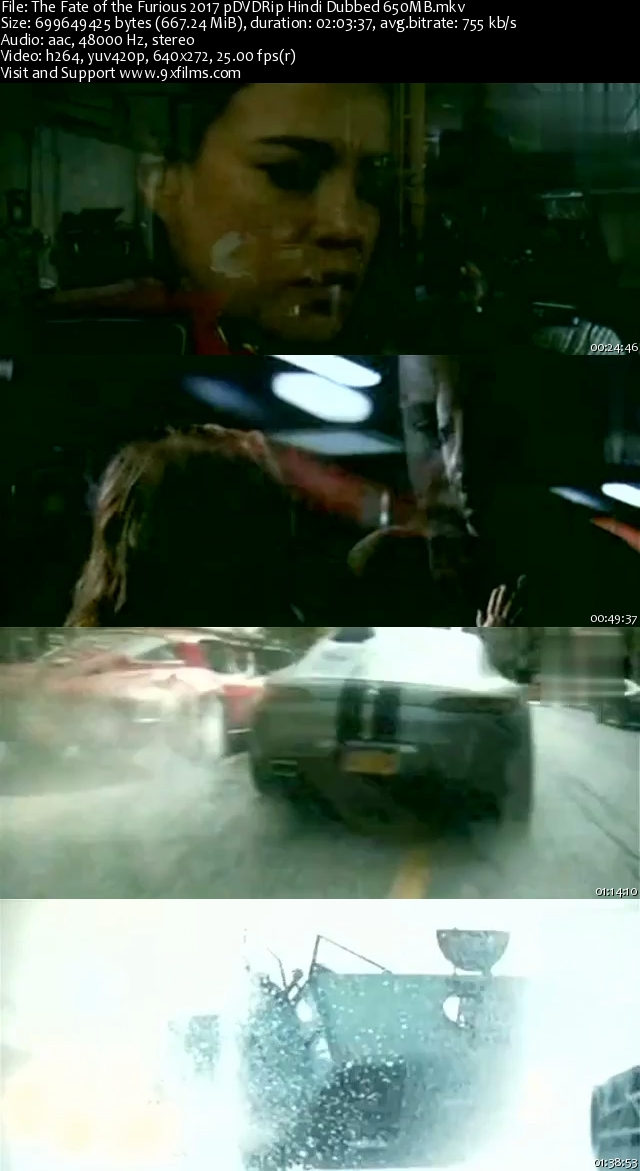 The Fate of the Furious 2017 pDVDRip Hindi Dubbed