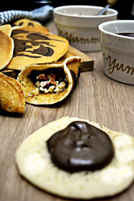القطايف بالقهوة و الكاكاو مميزة صحية و خفيفة جدا