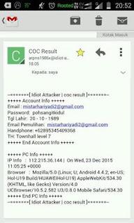 Berbagi ID Akun/Char COC Gratis Lengkap dan Banyak