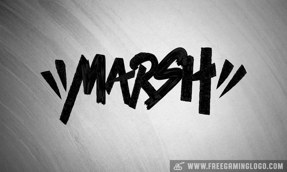 Marsh hand lettering signature design