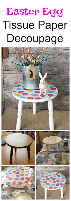 Easy Easter Decor with Tissue Paper Decoupage