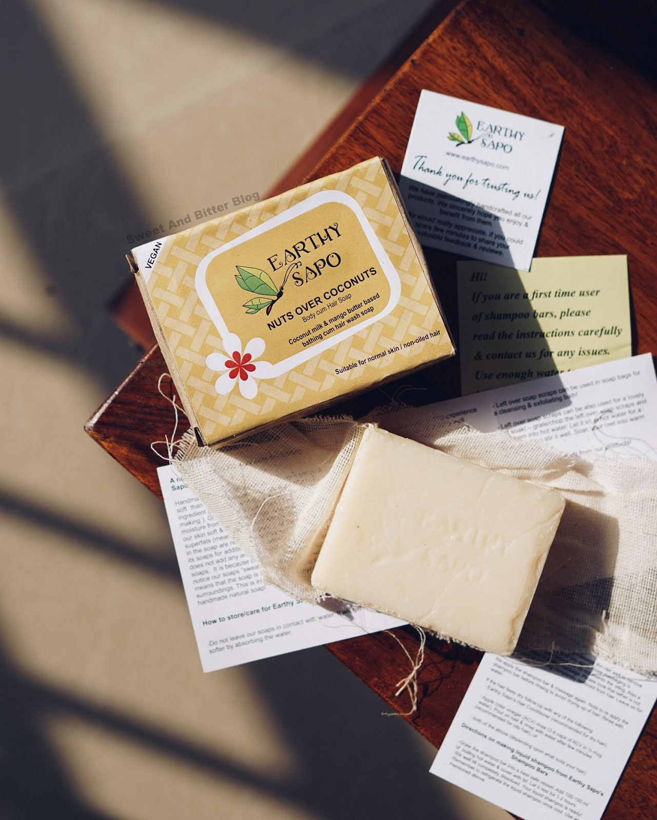 Earthy Sapo Nuts Over Coconuts Vegan Solid Shampoo Bar Review India