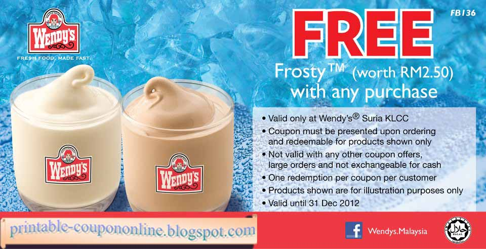 picture about Wendy's Printable Coupons titled Wendys discount coupons salad : Price reduction coupon toronto aquarium