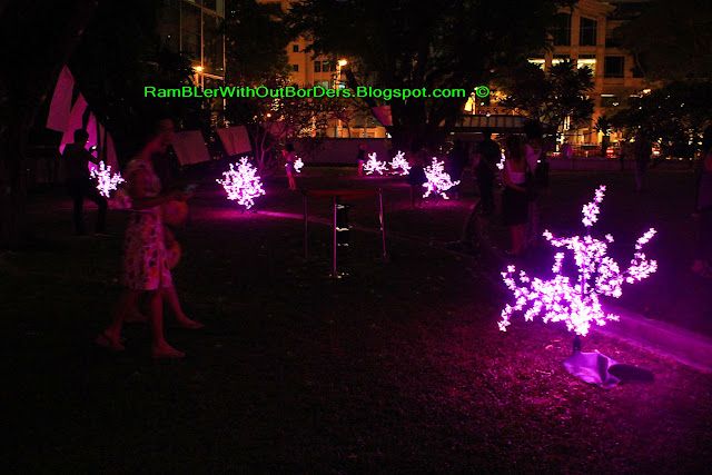 Hanami installation, Armenian Church, Singapore Night festival, Singapore