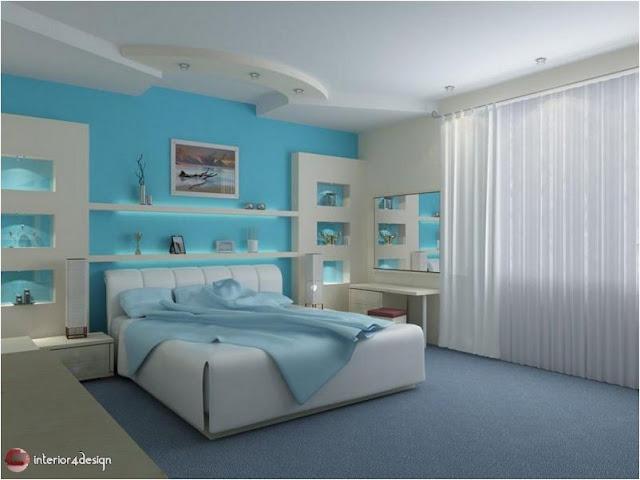 Gypsum Bedroom Designs 17