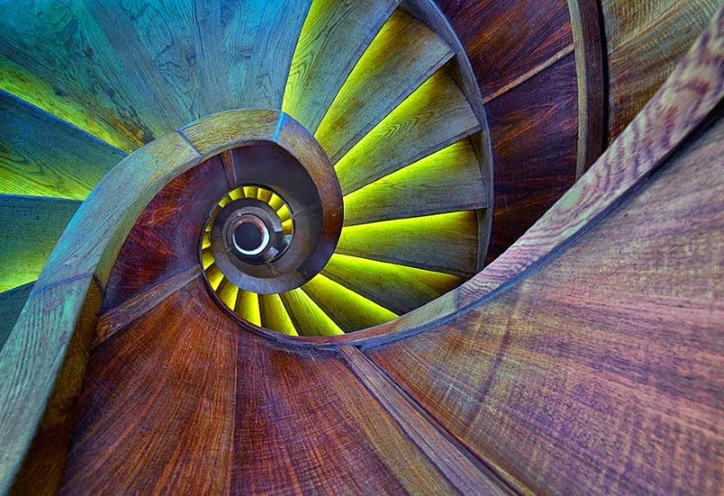 "4. ""Crazy Eye"" – Izador Gasperlin - 15 Mesmerizing Examples of Spiral Staircase Photography"