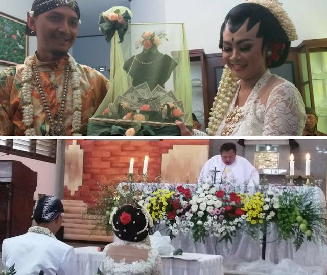 Pernikahan Beda Agama, Kedua Mempelai ini Melangsungkan 2 Upacara Pernikahan