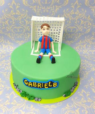 tort piłkarz w bramce