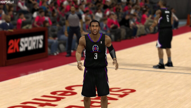 NBA 2k14 Jersey Patch : Los Angeles Clippers Black Alternate Uniform