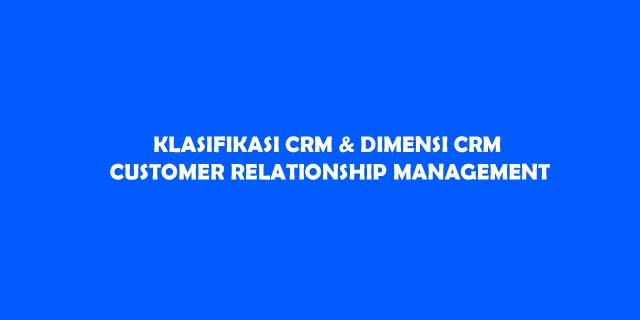 customer relationship management adalah