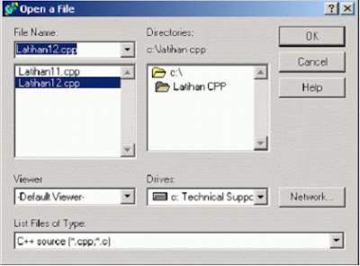 Jendela Open File pada C++