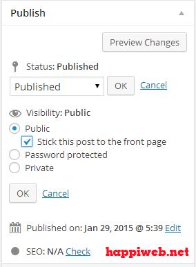 thiết kế website bằng wordpress, Hiển thị bài viết được sticky post trong WordPress