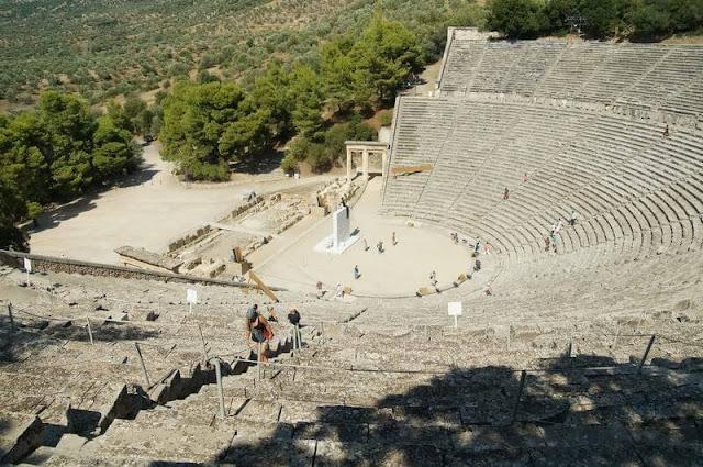 TEATRO DE EPIDAURO, teatro griego, ruinas griegas