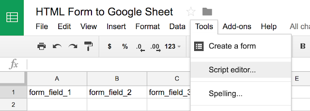 How to submit HTML form to Google Sheet
