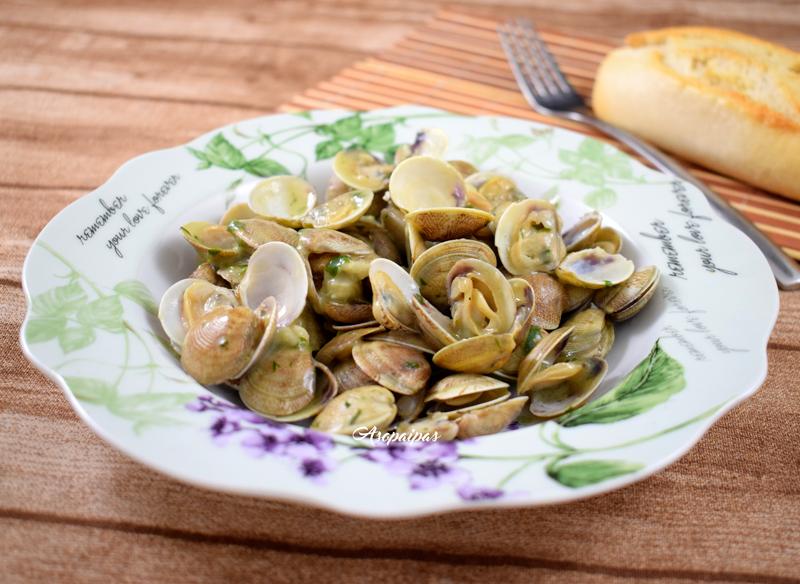 Almejas en salsa verde v deo receta recetas de cocina - Salsa verde para almejas ...