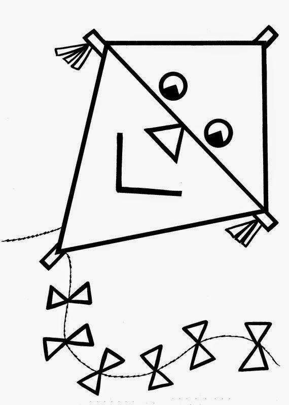 coloring pages of kites - dibujos para colorear maestra de infantil y primaria