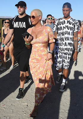 1a2 Photos: Amber Rose steps out in Floral print dress