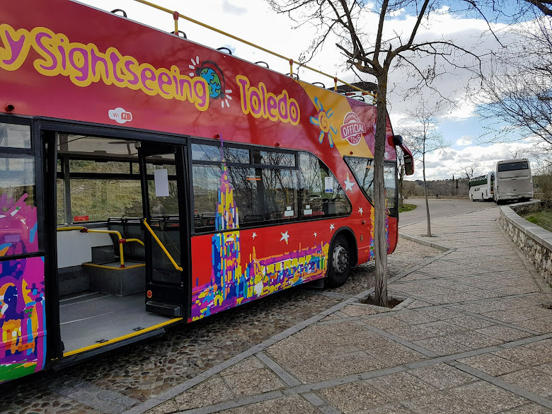 所搭乘的觀光巴士
