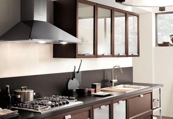 Decoraci n en el frontal de la cocina - Cocinas con pared de cristal ...