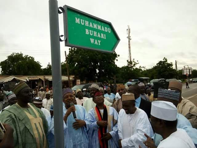 Photos: Buhari gets street named after him in Kebbi State