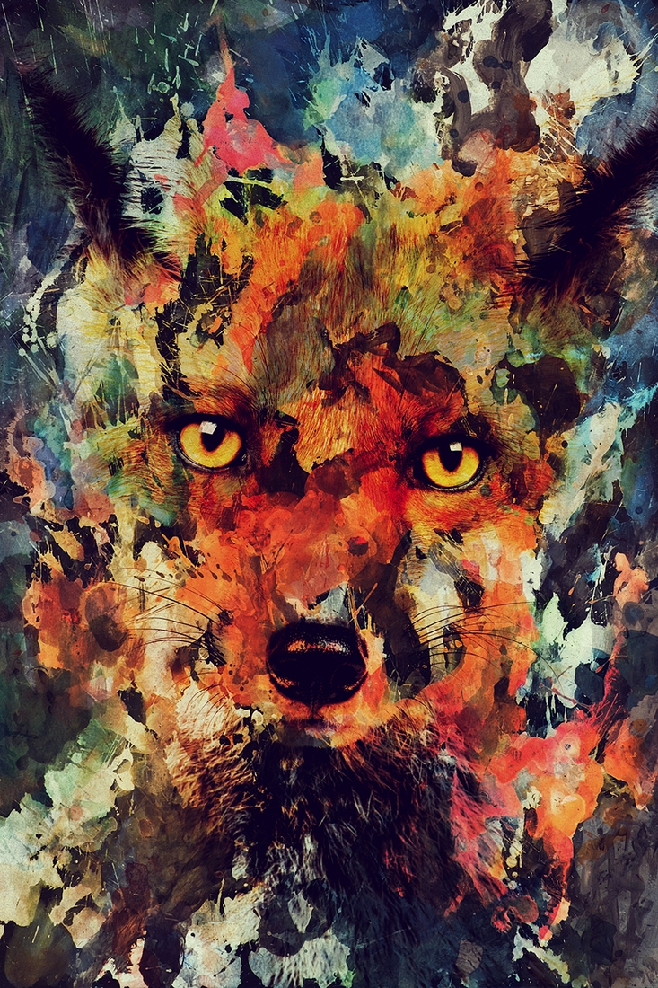 05-Fox-Andreas-Lie-Watercolor-Paintings-that-Blend-in-the-Background-www-designstack-co