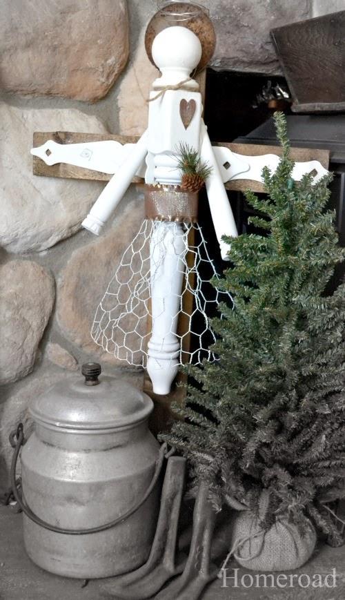 How to Make an Angel From broken furniture. Homeroad.net