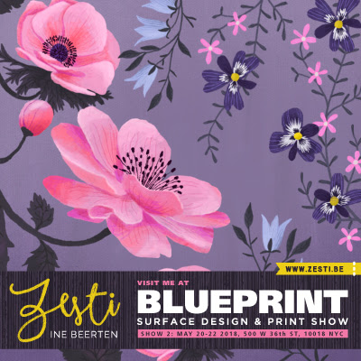 Print pattern blue print 2018 zesti ine beerten her designs have been licensed for greeting cards gifts fabric kids apparel and more art directors are welcome to drop by ines booth during blueprint malvernweather Choice Image