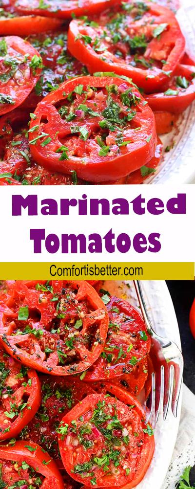 Easy Marinated Tomatoes Salad Recipe