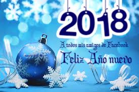 Feliz año 2018 amigos Facebook