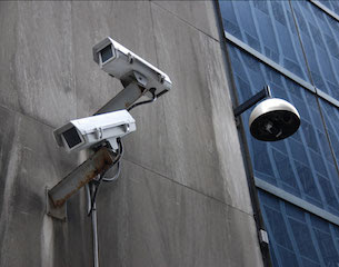 A Building Surveillance Camera in Any Street, Any City