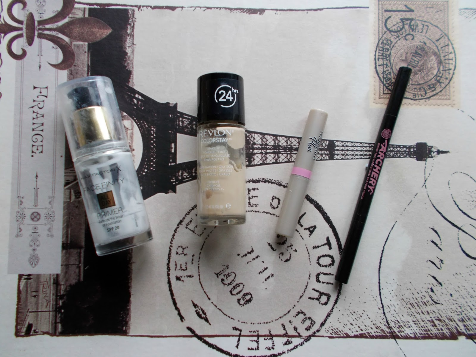 makeup empties review revlon colourstay soap and glory max factor carmex