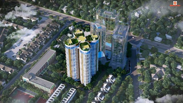 Phối cảnh tổng thể chung cư Sky View Plaza thuộc toà Imperial Plaza