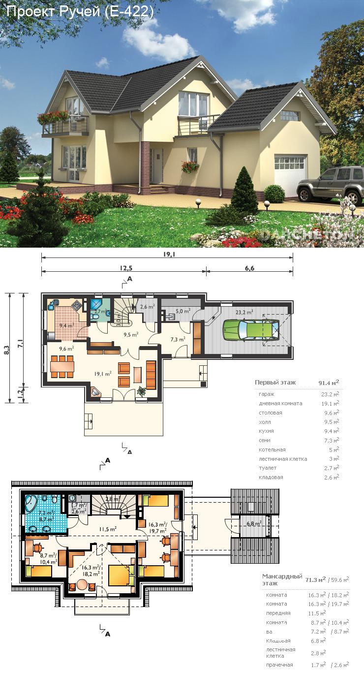 Проекты домов и коттеджей чертежи и фото