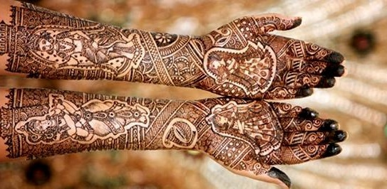 Nice Indian Mehndi Designs For Full Hands