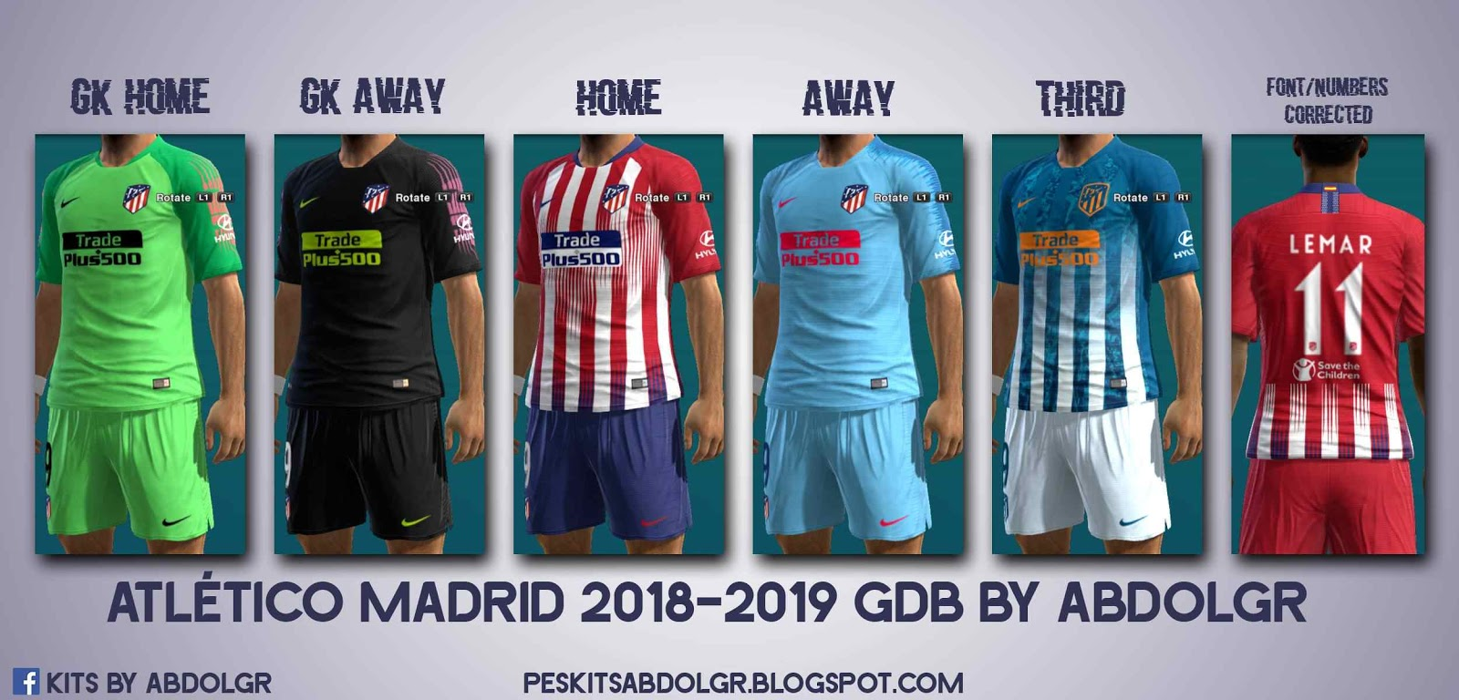 presenting reasonable price save up to 80% ultigamerz: PES 2013 Atlético Madrid 2018-19 Full GDB Kits