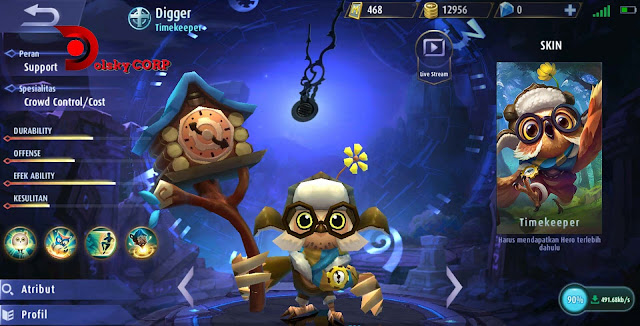 Mobile Legends : Hero Digger ( Timekeeper ) Burst Damage Builds Set up Gear