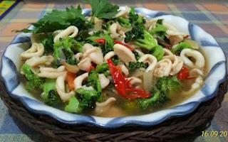 Resep Cumi Brokoli Saus Tiram ala Bunda Widyaa Ivana, resep cara masak cumi, cumi brokoli saus tiram