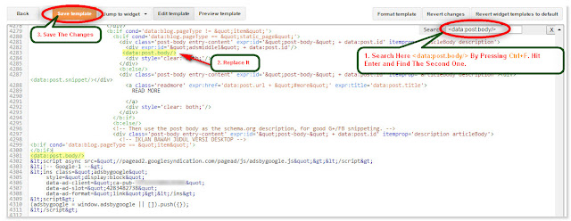 Adsense Code Inside Blogger Post, Add Adsense Code Inside Blogger Post
