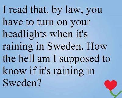 The Rain In Sweden