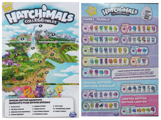 Hatchimal CollEGGtible Map and Collector Sheet