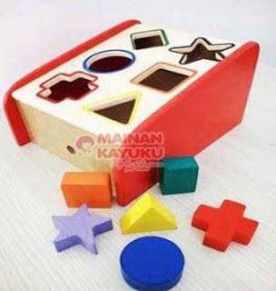Mainan Montessori Anak Sliding Geo
