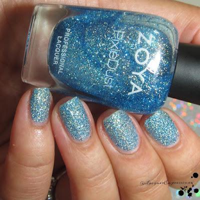nail polish swatch of Bay by zoya