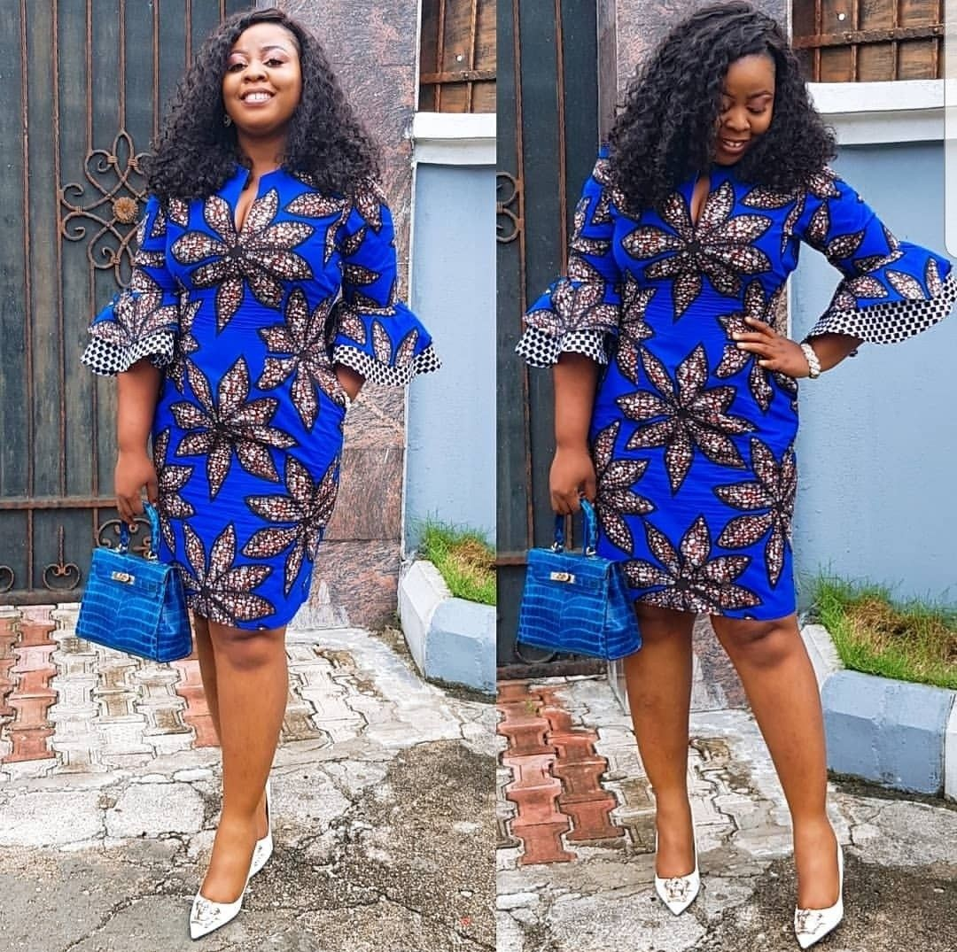 ANKARA SHORT PENCIL GOWN STYLES