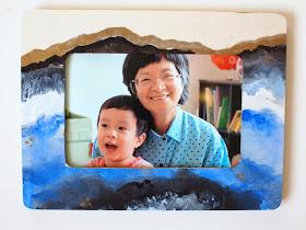 DIY Agate painted frame