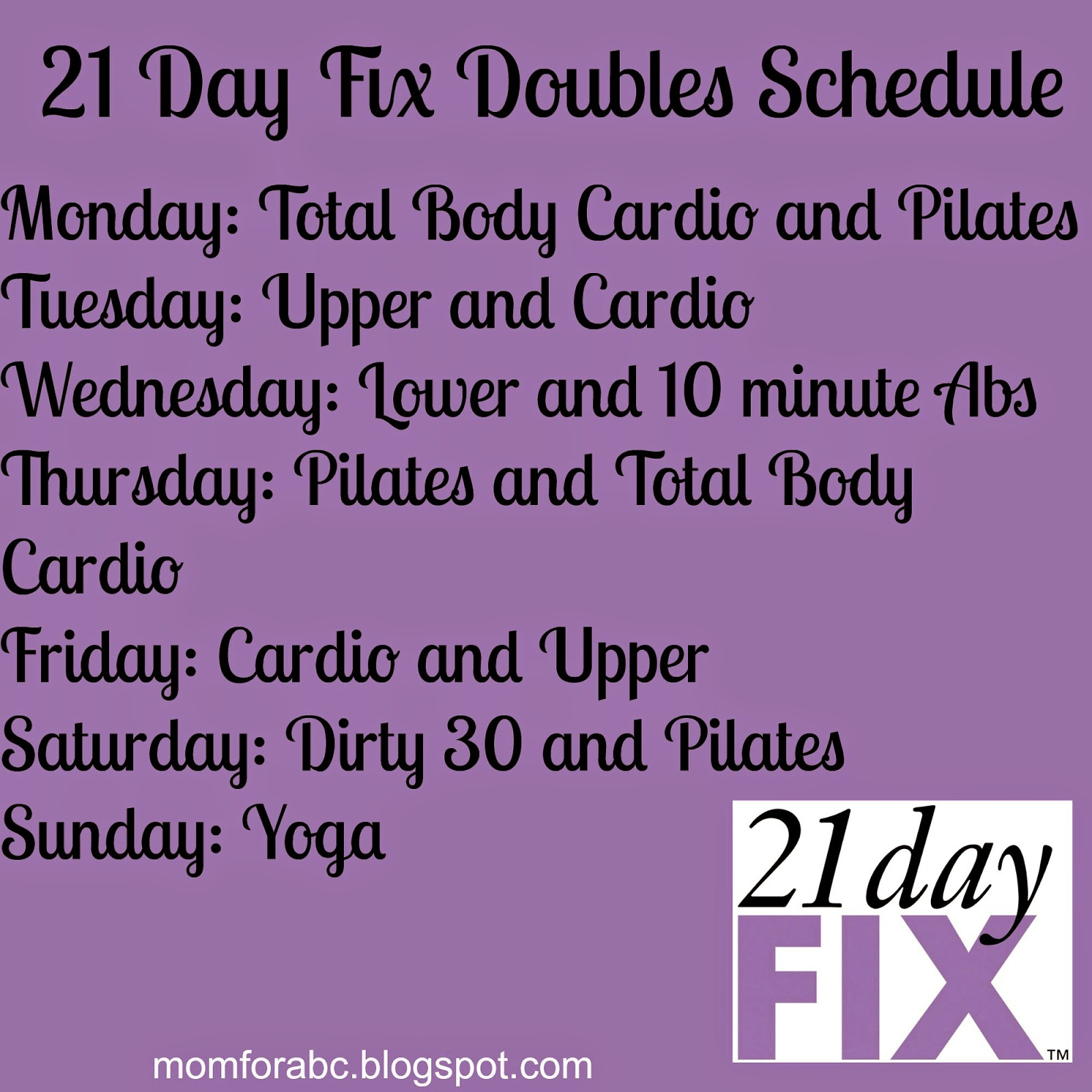 The Transformation Of Mom 4 Abcd 21 Day Fix Workout