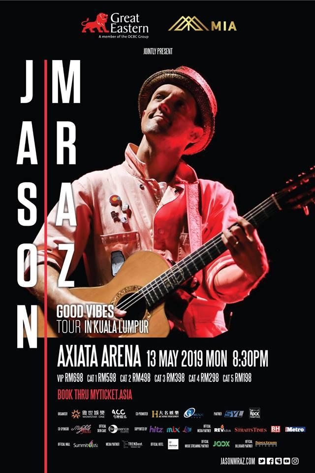 Jason Mraz Good Vibes Tour ticket price