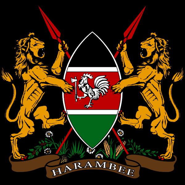 Logo Gambar Lambang Simbol Negara Kenya PNG JPG ukuran 600 px
