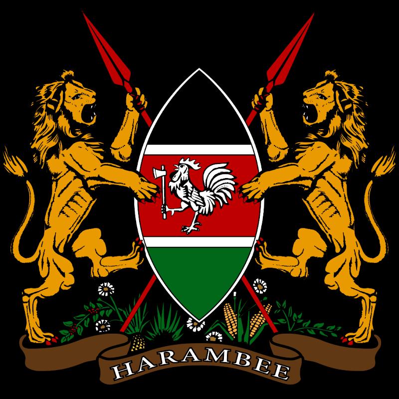 Logo Gambar Lambang Simbol Negara Kenya PNG JPG ukuran 800 px