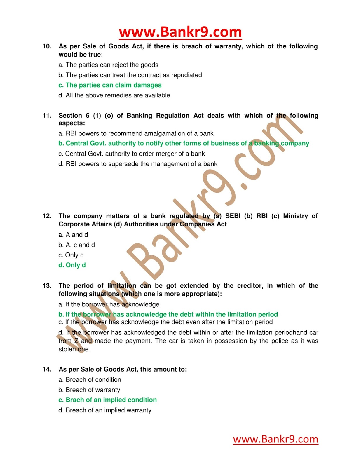 JAIIB 3rd Paper is Legal and Regulatory aspects of Banking Previouse Question Papers